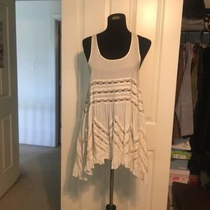 Free People trapeze slip dress with lace trim